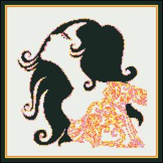 Retro Lady Pastel  Counted Cross Stitch by PaulaHowardPatterns, $18.00
