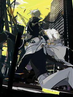 Higekiri and Hizamaru Boy Illustration, Character Illustration, Character Concept, Character Design, Ninja Art, Human Figure Drawing, Anime Character Drawing, Cosplay Armor, Boy Poses