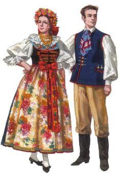 Ethnic Outfits, Ethnic Clothes, Folk Costume, Costumes, Oktoberfest Decorations, German Folk, Polish Folk Art, European Dress, Folk Clothing