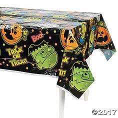 Boo Bunch Halloween Plastic Tablecloth