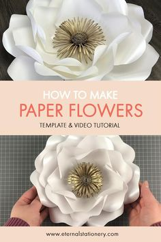 Paper Flower Patterns, Paper Flowers Craft, How To Make Paper Flowers, Large Paper Flowers, Paper Flower Wall, Paper Flower Tutorial, Flower Wall Decor, Diy Flowers, Paper Crafts