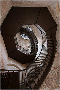 Staircase, Tower Lamberti, Verona, Italy