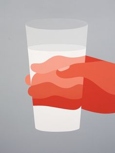 This is a magical picture. In our life, when we picked up the transparent glass cup, through which to see their fingers looked wavy. This graph reflects the phenomenon. But in order to distinguish between five fingers, it is the clever use of different transparency orange to divide the fingers, from shallow to deep. This is a clever processing method. The cup is a convex lens, which makes the fingers through the glass to become another way, achieves the visual effect.