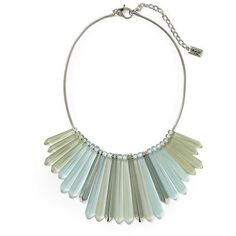 Kenneth Cole New York Urban Seaglass Fringe Necklace ($135) ❤ liked on Polyvore