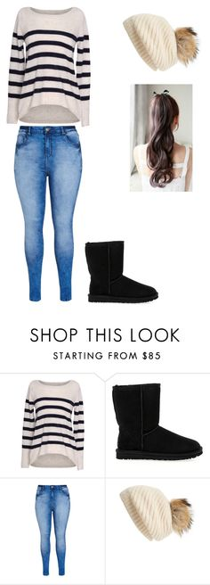 """""""Inspired by/collab with @itschandel"""" by bandgirl1213 ❤ liked on Polyvore featuring Velvet by Graham & Spencer, UGG Australia, City Chic, Linda Richards, women's clothing, women, female, woman, misses and juniors"""