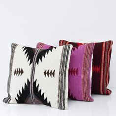 Handwoven in Mexico by  The Women of Oaxaca  Structural design. Minimal palette. Bold style. This pillow was inspired by Zapotec patterns from Mexico's Oaxaca r