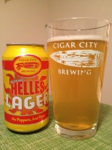 Beer review: @Cigar City Brewing Hotter Than Helles Lager