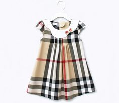 12fe272d7692 Freeshipping Wholesale 5pcs Lot Baby Girls Clothes Baby and Kids Dress  Check Design Beautiful-