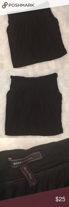 BCBG Black Stretch Skirt Stretch comfy skirt with pockets! BCBGMaxAzria Skirts Mini