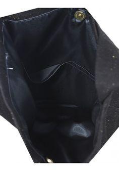 TASARIM KOT SİYAH RENK ÇANTA Baykuşlu çanta ve siyah kot çantaların iç görüntüsü