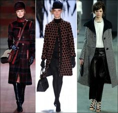 nyfw fall 2012 trends PRINTED COATS from left:  Tommy Hilfiger / Milly by Michelle Smith / Derek Lam - I am crazy for a well-constructed beautiful coat and these are some great examples.  Also check out Tory Burch and J. Crew.