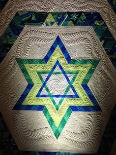 Julie Herman's Huppah quilt, free-motion quilting by Angela Walters Photo By Brad Herman source:  Quilting Is My Therapy