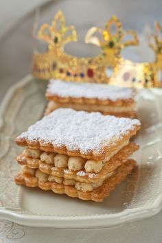 Twelfth Night Cake but millefeuille style