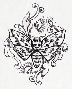 38 Trendy Ideas For Embroidery Butterfly Pattern Urban Threads Embroidery Patterns Free, Hand Embroidery Designs, Embroidery Stitches, Machine Embroidery, Print Patterns, Body Art Tattoos, Tattoo Drawings, I Tattoo, Urban Threads
