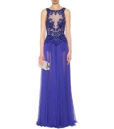 Zuhair Murad - Embroidered silk chiffon gown - mytheresa.com