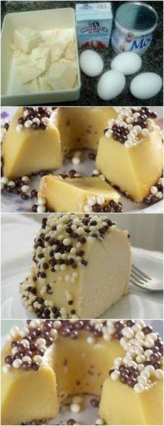 BRIGADEIRÃO BRANCO ESSE ARRASA,TODOS AMAMMM❤️ VEJA AQUI>>>)Em uma vasilha derreta o chocolate em banho-maria e reserve. 2)Bata no liquidificador o leite condensado, creme de leite e os ovos. #receita#bolo#torta#doce#sobremesa#aniversario#pudim#mousse#pave#Cheesecake#chocolate#confeitaria