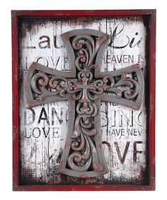Framed Cross Wall Art