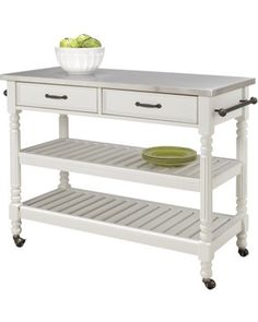 Add some much needed space to your kitchen with this versatile kitchen cart. What's even better- the shelves are adjustable! Buy it here: http://www.bhg.com/shop/target-white-savannah-kitchen-cart-p500862c082a797dc894197f9.html?socsrc=bhgpin100812shopkitchencart