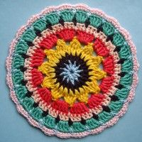 Crochet Mandala Wheel made by Kathryn, Cambridgeshire, UK for yarndale.co.uk