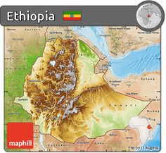 Worlds longest river worlds largest river and worlds deepest physical map of ethiopia satellite outside shaded relief sea publicscrutiny Gallery
