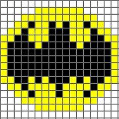 Free Batman Logo Cross Stitch Chart or Hama Perler Bead Pattern Crochet Pixel, Crochet Chart, Crochet Stitches, Free Crochet, 8 Bit Crochet, Pixel Crochet Blanket, Hat Crochet, Cross Stitching, Cross Stitch Embroidery