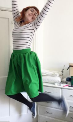 Rhiannon's Clemence skirt - sewing pattern in Love at First Stitch