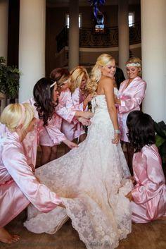 Bride in Watters Torreon Gown Style 4041B