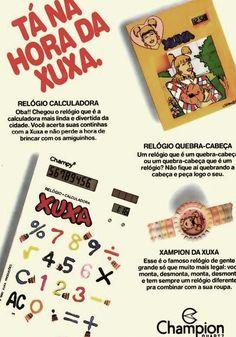 Calculadora e Relógio da Xuxa #nostalgia #anos80