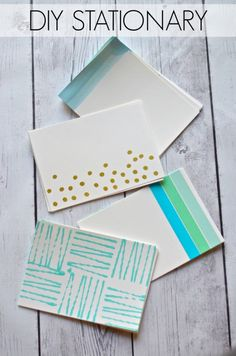 DIY stationary perfect for notes and thank you cards!