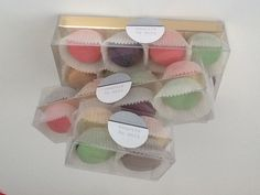 Pretty petit four macarons Macaron Packaging, Macarons, Container, Box, Pretty, Snare Drum, Macaroons