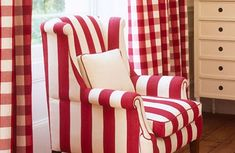 Red stripes and red gingham. Who knew?