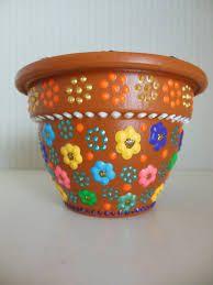 Resultado de imagen para macetas mexicanas pintadas