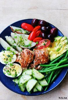 California Nicoise Salad with Lemon Vinaigrette and Fresh Herbs