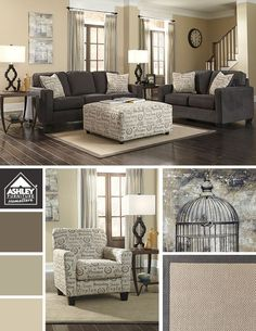 Love how the lighter tones compliment the softer charcoal palette!: