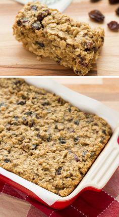 Fruity Oatmeal Breakfast Bars | Back to School Breakfast Ideas for Kids | Click for Recipe | Quick and Easy Breakfast Ideas for Kids