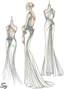 fashion design sketches of dresses - Google Search