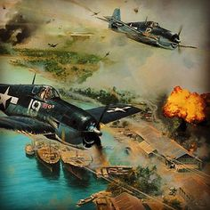 Grumman's Hellcat. Responsible for 76% of all US Navy aerial victories in WWII. The most successful fighter of the war. Ww2 Aircraft, Fighter Aircraft, Military Aircraft, Fighter Jets, Grumman F6f Hellcat, Photos Militaires, Plane And Pilot, Airplane Art, Aircraft Painting