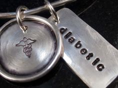 Hip Stylish Fun Medical Alert Bangle by donnaOdesigns on Etsy, $88.95