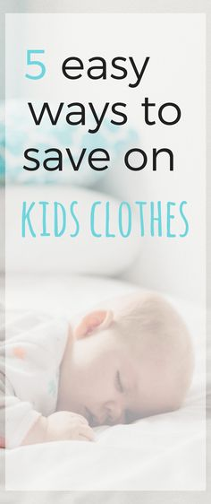 Are you on a tight budget but need to buy your kids new clothes? Here are 5 easy ways to save on kids clothes. Build their seasonal wardrobes without breaking the bank!