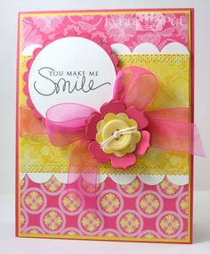 The Queen's Scene: Papertrey Ink Blog Hop/SSC12 - You Make Me Smile