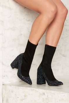 Shelly's London Chelsea Hotel Glitter Boot | Shop Shoes at Nasty Gal!