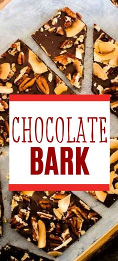 If there is anything more comforting than rich nutty chocolate, I don't know what it is. This Keto Chocolate Bark with coconut and pecans is so easy to make. Sugar-free desserts don't get any better than this! Easy No Bake Desserts, Sugar Free Desserts, Low Carb Desserts, Easy Dinner Recipes, Dessert Recipes, Chocolate Bark, Sugar Free Chocolate, 3 Ingredient Recipes, On The Go Snacks