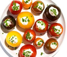 horseradish cherry tomatoes - simple, elegant appetizer for a summer party
