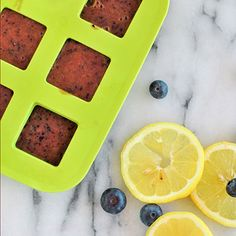 Stay hydrated this summer with these Blueberry-Lemon Fruit Cubes. #summerheat #flavoredicecubes #healthyrecipes | everydayhealth.com