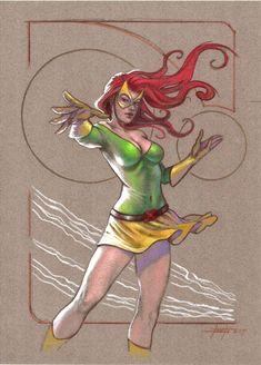 Jean Grey, in luca strati's color Comic Art Gallery Room Marvel Women, Marvel Girls, Marvel Art, Marvel Heroes, Comic Book Characters, Marvel Characters, Comic Books Art, Comic Book Girl, Comic Art Girls