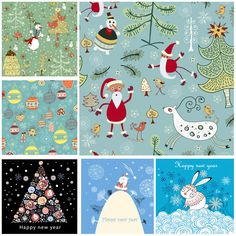 Decorative Christmas vector backgrounds