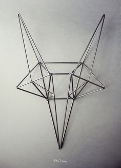 Steel Fox Head by Cracow-based industrial designer Magdalena Chojnacka