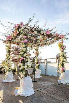 romantic and sweet wedding setting