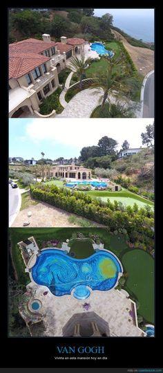 Impresionante piscina de la noche estrellada - Vivíría en esta mansión hoy en día   Gracias a http://www.cuantarazon.com/   Si quieres leer la noticia completa visita: http://www.estoy-aburrido.com/impresionante-piscina-de-la-noche-estrellada-viviria-en-esta-mansion-hoy-en-dia/