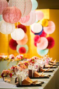 会場 Japanese Party, Japanese Wedding, Japanese Modern, Asian Party Decorations, Wedding Decorations, Table Decorations, Wedding Table, Our Wedding, Dream Wedding